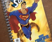 Adventures of Superman More Powerful Than Upcycled Journal