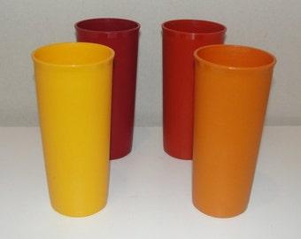 Tupperware Plastic Tumbler Set of Four