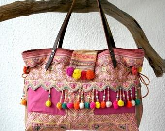 hmong tote - hmong bag, ethnic bag, hill tribe bag, tribal tote, ooak