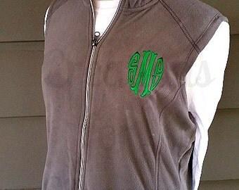 Womens Monogrammed Vest, Monogrammed Fleece Vest, Personalized Vest, Fleece Vest, Personalized Fleece Vest, Monogrammed Coat, Custom Coat