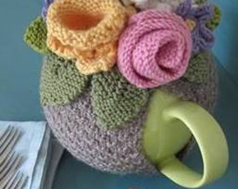 Flower Basket Tea Cosy Knitting pattern