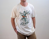 90s Irish T-shirt, Bicycle T-Shirt, Four Leaf Flyers Dublin T-shirt, Irish Bike Race T-shirt, Winged Irishman On A Bike T-shirt, XXL