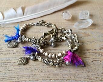 Wanderer bracelet - ethnic bohemian gypsy tribal bracelet - boho chic jewelry