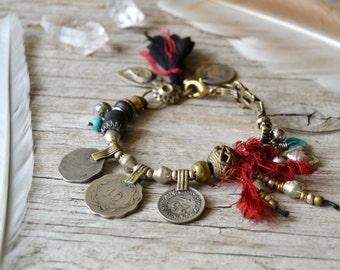 Aditi Bracelet - Kuchi coin bohemian gypsy bracelet - boho chic jewelry