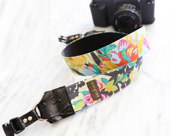 Violette Camera Strap in YELLOW with Side Release Buckles -- 1.5 inches wide