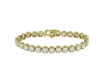 Gold Bridal Tennis Bracelet Wedding Jewelry, Cubic Zirconia Dainty Crystal Traditional Bridesmaid Rhinestone Bangle- Camilla Christine TORI