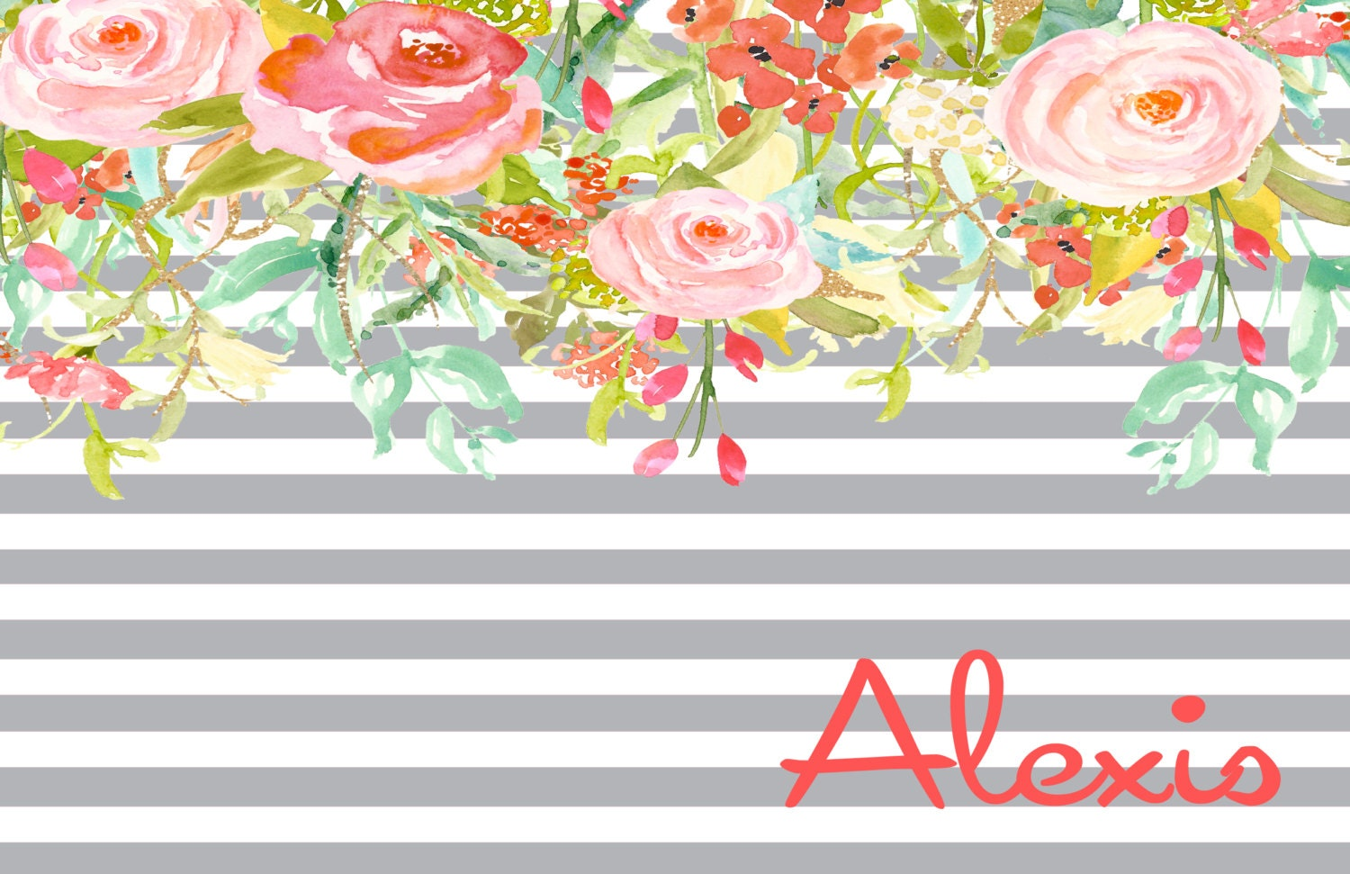 50 personalized paper placemats custom floral paper placemats