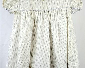 Vintage C.I. Castro Girls Purple Polka Dot Dress- Size 2t- New, never worn