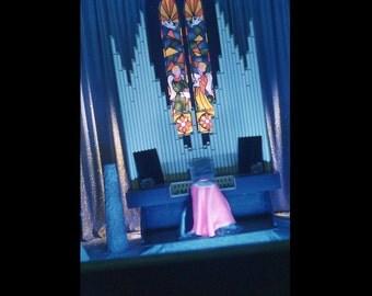 35 mm Slide/Transparency, Red Border Kodachrome, 1950s: Modern Church Organist (51216-2)