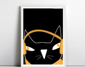 art poster for cat lovers, Minimalist poster, cat poster, Kids Room poster, Nursery Art, Crazy Cat Lady, by nicemiceforyou