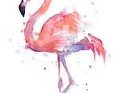 Watercolor Flamingo Painting, Pink Flamingo Print, Flamingo Print, Nursery Flamingo Print, Nursery Decor, Flamingo Love, Colorful Bird