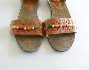 Vintage Leather Sandals Size 11 W