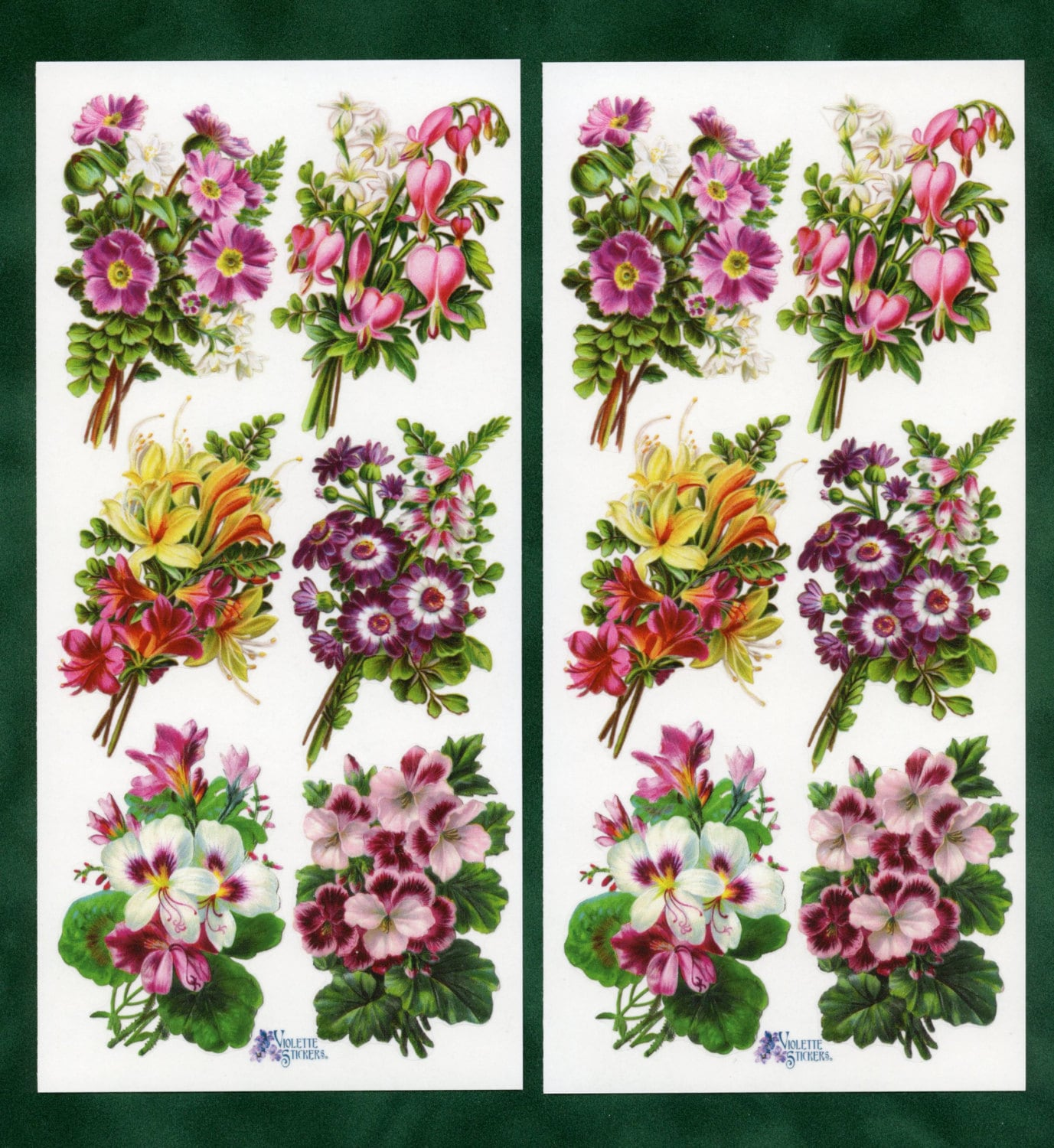 Floral Bouquet STICKERS Flower Stickers Victorian Floral