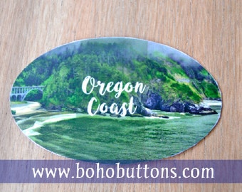 Oregon Coast Vinyl Sticker Decal, Oregon Coast Sticker, Pacific Northwest Decal, PNW Laptop sticker, Bumper Sticker, Portland Oregon Travel