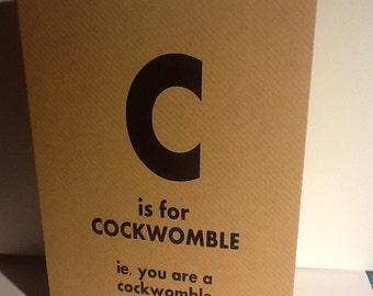 Adult humour card