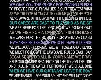 The Fisherman's Prayer personalized, fisherman, fishing prayer, fishing print, fisher prayer, prayer for fisherman, fishing