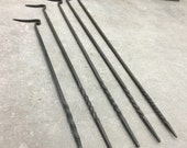 Blacksmith's Fire Pokers / Hand Forged / Five Sizes / Outdoor Bonfire Tool / Fire Pit