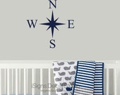 Nautical Compass Wall Decal - Nursery Decal