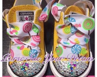 Candyland/Candy Shoppe Converse - Candyland Birthday - Infant/Toddler/Adults - Candy Shoppe Birthday