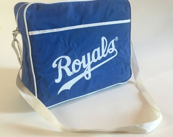 Vintage KANSAS CITY ROYALS Pizza Hut Vinyl Canvas Messenger Bag
