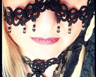 "Tatted Lace Mask  ""AMETH"""