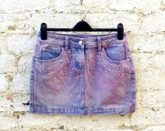Denim mini skirt | Etsy