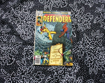 The Defenders #61 Marvel Comic Book. Vintage 1978 Bronze Age Marvel X-Men Comic Book. Collectible Defenders Comic With Spiderman