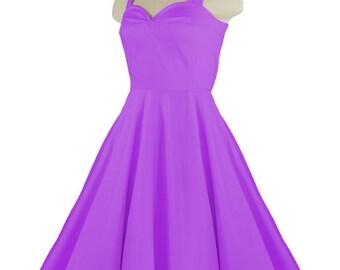CALLISTA Violet Purple Rockabilly Swing Rock 'n Roll Dress//Full Circle Purple Dress//Retro 50s Style Dress//Bridesmaid, Party Dress XXS-3X