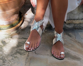 Ankle Wrap Sandals, in Six Colors. Thalia 03 NEW