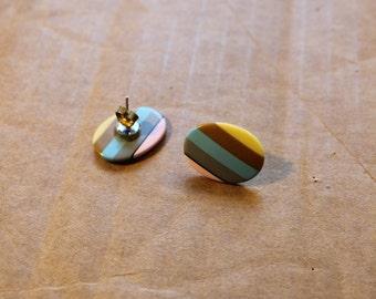 1980s Sherbet Stripes Earrings