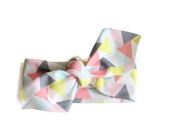 SALE || Baby / Toddler Headband || Organic Cotton Headband || Triangle Parade