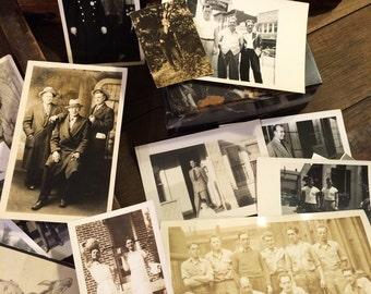 24 Vintage Photos of Men Boys, Antique Photos, Some Interesting Scenes, Black and White Photographs, Male Masculine Art