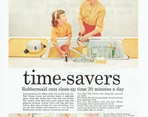 1957 Rubbermaid Time Savers Kitchen Accessories Advertisement