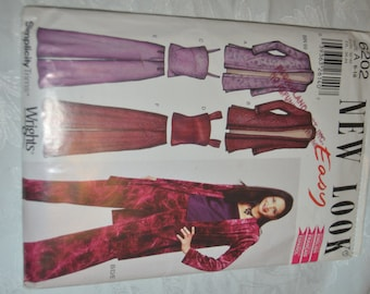 New Look 6202   Womens Jacket Top and Pants Sewing Pattern  - Size 6 - 16 - UNCUT