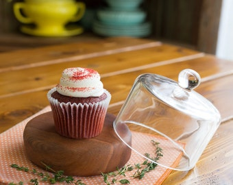 Cupcake Tray, Mini Torte Tray, Mini Cake Stand, Serving Tray, Dessert Tray, Glass Cloche, Mini Dessert Tray, Cooking Gift, Kitchen Gift