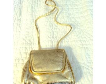 Vintage Mini Gold Satchel