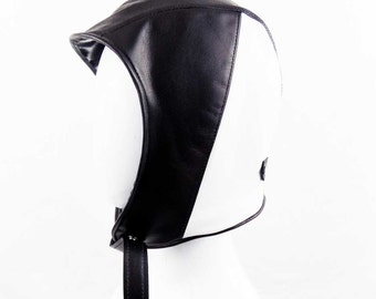 Black and White Lambskin Hat