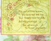 Crab-apple Hill Studio An Embroiderer's Blessing Embroidery Pattern