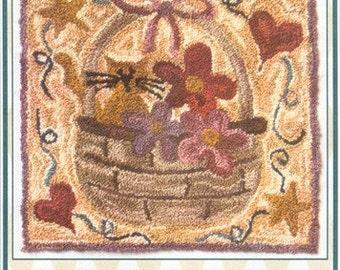 Allie's Basket by Christine Baker Punchneedle Pattern