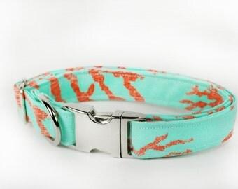 Ocean Beach Themed Dog Collar