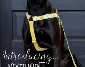 New! MIXED PRINT Step-In Harness-any fabric!