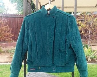 Jordache Green Corduroy Jacket Size Small