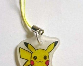 PREMADE One Hand Drawn Pokemon Pikachu Phone Charm Keyring