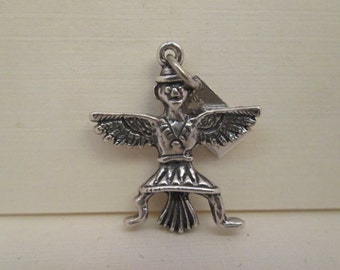 """Vintage Indigenous Tribal """"Painted Desert"""" Sterling Silver by Bell Charm"""