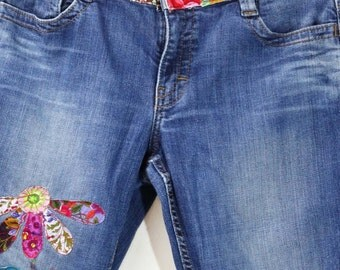 Hippy Chic Calvin Klein Stretch Cotton Jeans Upcycled Clothing Upcycled Jeans