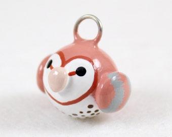Barn Owl Charm - Polymer Clay Charm - Barn Owl Jewelry - Owl Charm - Bird Charm - Cute Owl - Polymer Clay Jewelry - Barn Owl Phone Charm