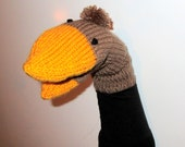 Hand Puppet Female Mallard Duck Hand Puppet Kids Birthday Gift Sock Puppet Knit Duck