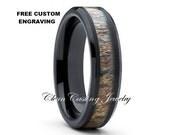 Antler Ring,Black Deer Antler Tungsten Ring,Tungsten Wedding Band,Tungsten Wedding Ring,Men & Women,Comfort Fit Ring,Anniversary Band,6mm