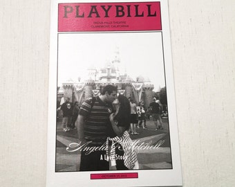 Playbill Wedding Program // Reception Program // Order of Events // Theatre Theme // Folded Program
