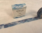 "Azure Waves Washi Tape - Seasons Color - 15 mm x 7 m (5/8"" x 7.6 yds) - Inspired by Japanese Iroshizuku Ink Kon-Peki"
